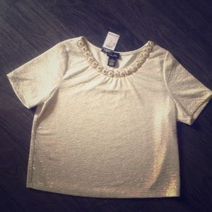 BNWT Sparkly & Embellished Crop Top